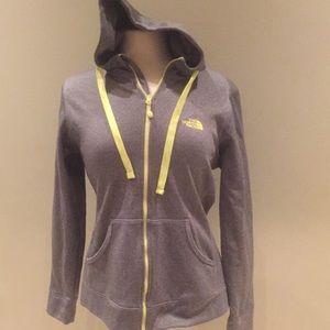 Ladies The North Face zip up sweatshirt Large